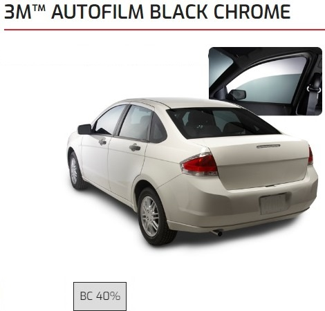 Kaca Film 3M Black Chrome 40%