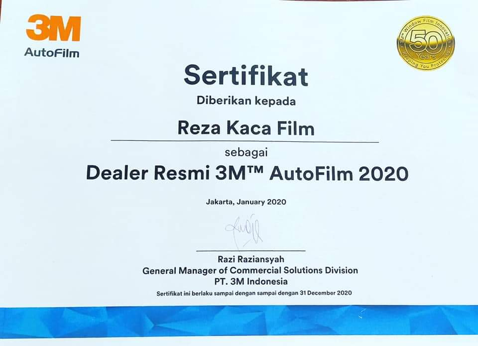 Serifikat Dealer 3M 2020